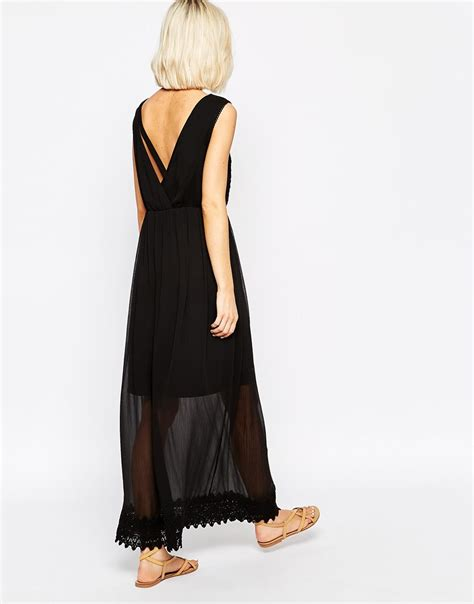 Mira Dress Dress Longdress Dress Terbaru Maxi Dress vero moda boho lace detail maxi dress in white lyst