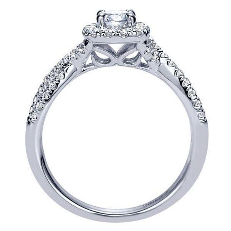 14k white gold 67cttw criss cross halo engagement