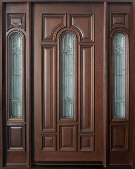 single front door front door custom single with 2 sidelites solid wood with mahogany finish classic