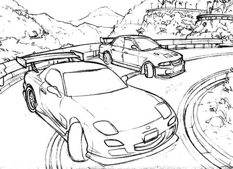 Drift Car Coloring Coloring Pages