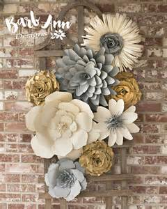 Flower Wall Decor by Large Paper Flower Wall Backdrop Barb Designs