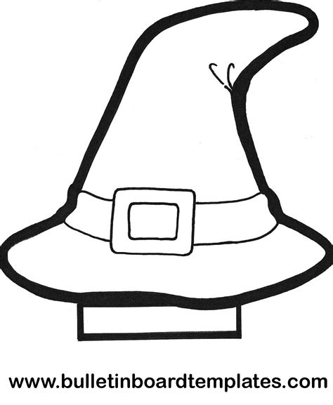 Heksenhoed Thema Heksen En Toveren Pinterest Witch Hat Coloring Page