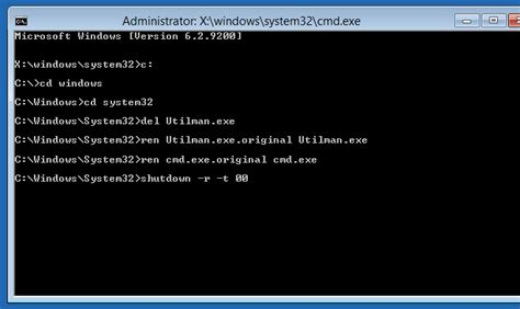 windows 8 reset password command prompt how to reset windows 8 password