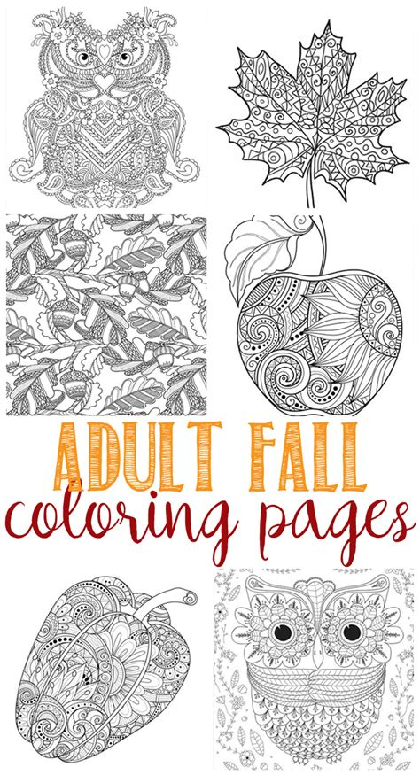 coloring pages for adults fall fall coloring pages for adults domestically speaking