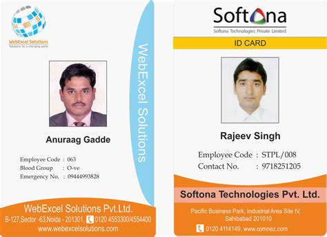 company identity cards templates sri corporate staff id card innomations