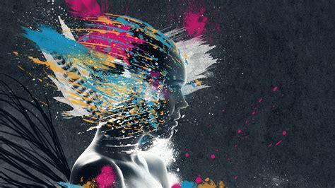 wallpaper abstract woman woman abstract digital art artwork pi