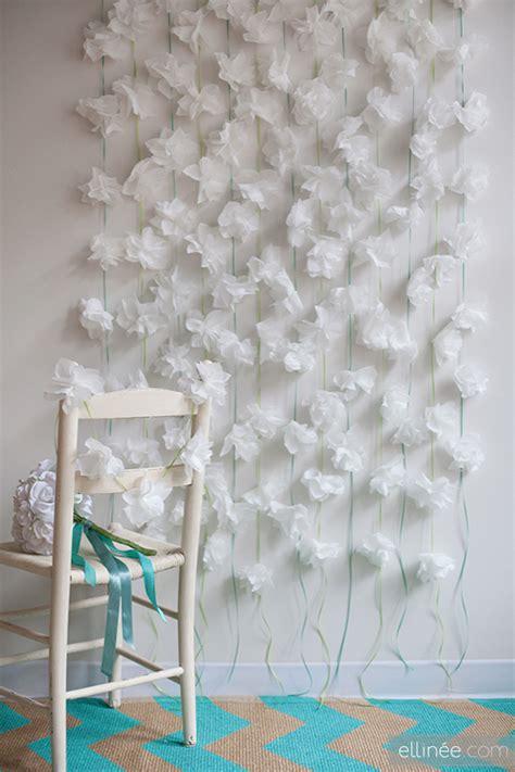 Ellinee The Paper Snowflake - cortina de flores de papel como fazer