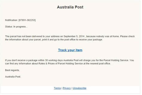 Aus Post Racking by Current Scams Phishing Attacks And Frauds Australia Post