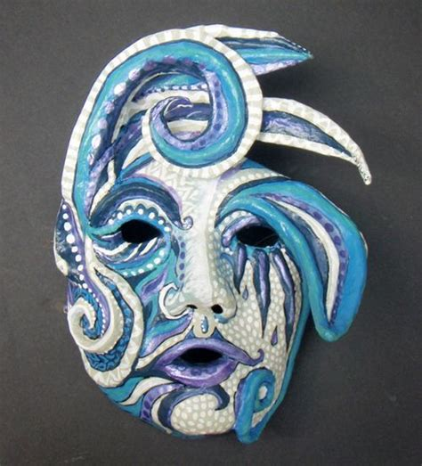 Paper Mache Mask - how to make a paper mache mask decoration technique