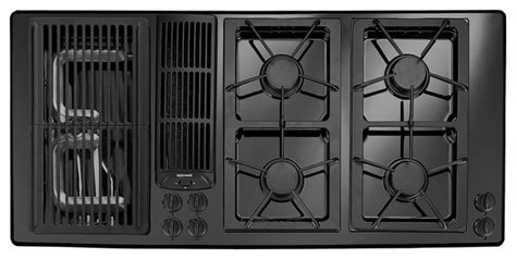 45 Inch Gas Cooktop jenn air 45 quot gas downdraft cooktop black on black