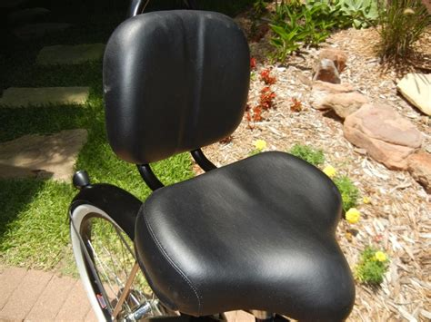 big w bicycle seats bicycle black seat w back rest cruiser comfort bikes