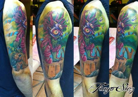 skull kid tattoo skull kid majoras mask by cristianolourenco