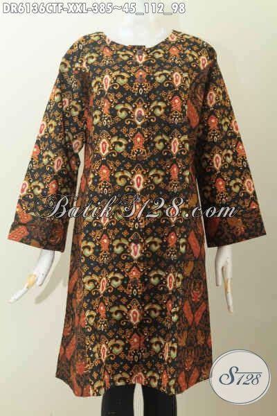 Naysila Jumbo Tunik Baju Atasan Wanita busana batik jumbo baju batik atasan wanita gemuk model