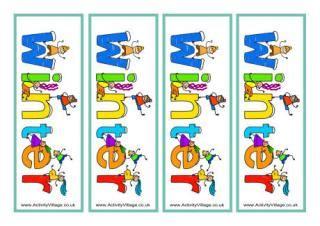 printable bookmarks activity village winter bookmarks