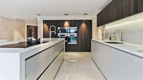 Stainless Steel Kitchen Island With Seating by Luxury Kitchen In Hertfordshire