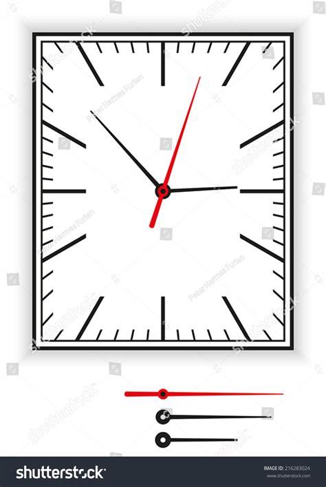 printable rectangular clock face rectangular clock face as part of an analog clock with