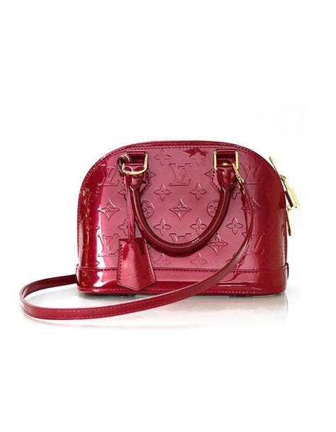 Lv Alma Vernish Mini louis vuitton monogram vernis mini alma bb crossbody bag for sale at 1stdibs