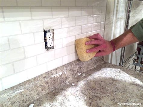caulking kitchen backsplash how to install a kitchen backsplash the best and easiest