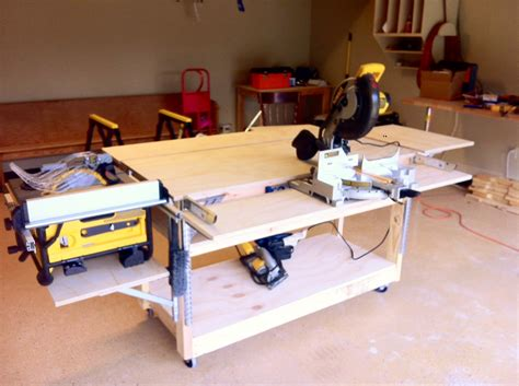 home workbench plans woodwork mobile workbench pdf plans