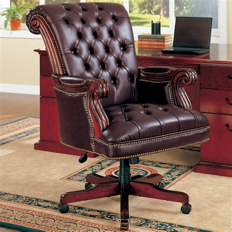 Luxury Desk Chairs by My Decorative 187 Luxury Brown Leather Office Chair