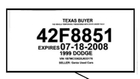 Dealer Tag Template Texas Does It Right On Dealer Plates Orange County Register