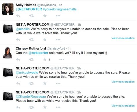 100 At The Net A Porter Sale by Net A Porter Crashes As It Launches Sale Ahead Of Black