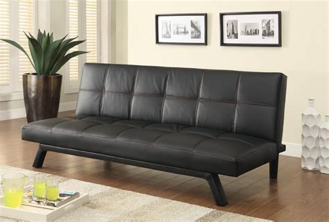 Modern Futon Sofa Bed Sofa Beds And Futons Contemporary Sofa Bed In Black Leatherette Quality Furniture At