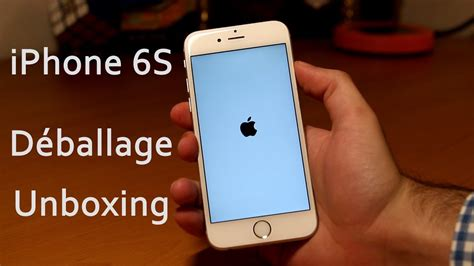 test iphone  deballage  prise en main fr