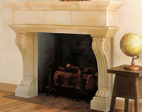 cast fireplace mantels adaptable for prefabricated