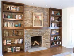 decoration fireplace surrounds with bookshelves
