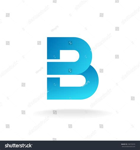 letter b logo template construction building element style stock vector illustration 238755970