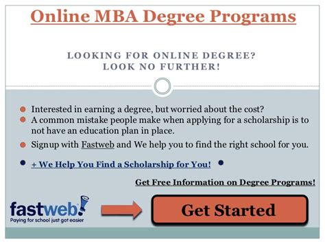 Mba Degree Programs In by Mba Degree Programs