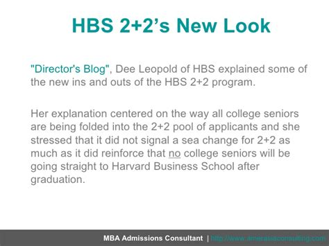 Harvard Mba Admissions Consultant by Hbs 2 2s New Look