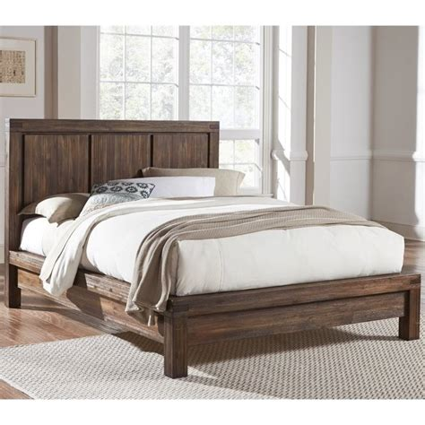hardwood platform bed modus furniture meadow solid wood platform bed in brick brown 3f41fx