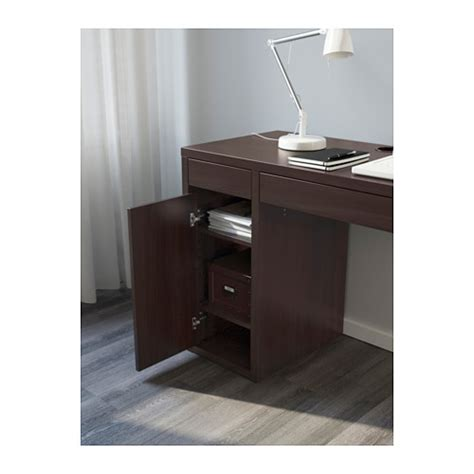 micke desk black brown 105x50 cm ikea