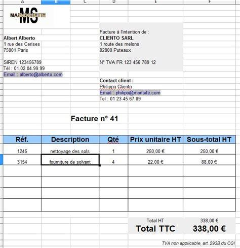 Modele De Facture Micro Entreprise