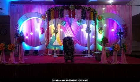 Wedding Decoration at Parvathi Thirumana Nilaiyam