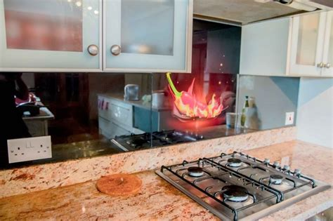 cheap kitchen splashback ideas chilli printed glass kitchen splashback by creoglass design uk view more