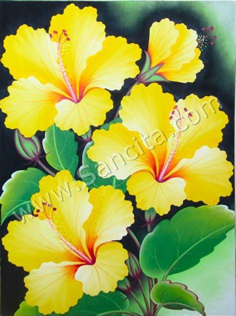 bg  lukisan bunga kembang sepatu wwwlukisan minimaliscom