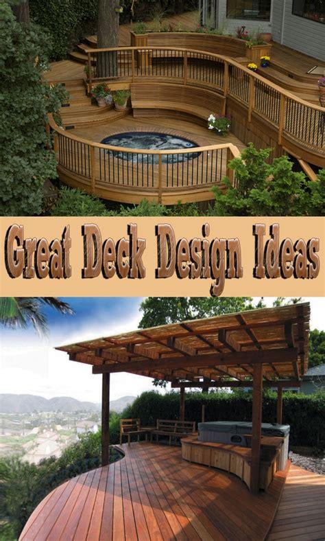 great deck designs great deck design ideas corner