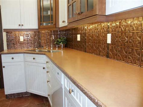 kitchen backsplash tin 35 beautiful rustic metal kitchen backsplash tile ideas