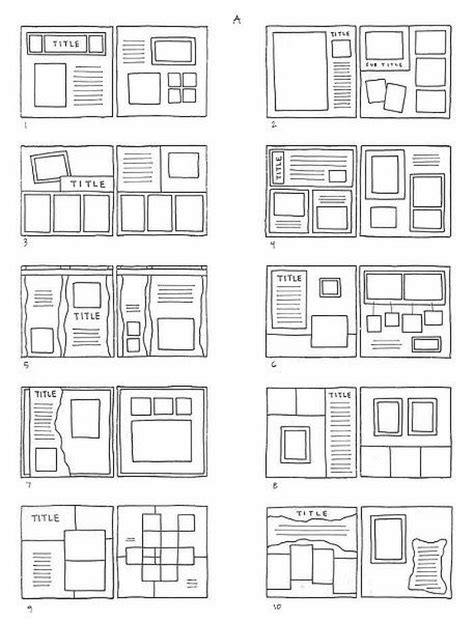 scrapbook layout sketches book 15952 best scrapbooking layouts images on pinterest
