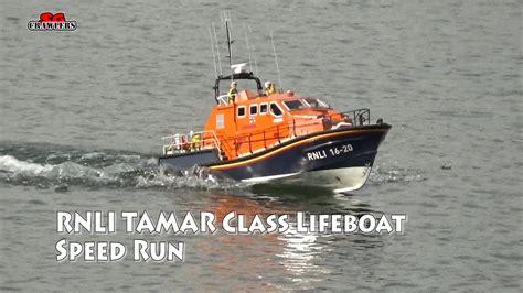 slipway and boat r 1 16 model slipway tamar class lifeboat rc boat speed runs