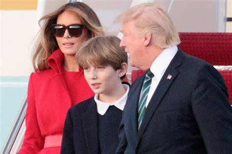 melania and barron trump president s son prep