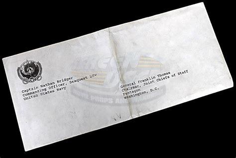 Resignation Letter In Envelope Seaquest Dsv Television Prop Resignation Letter Envelope