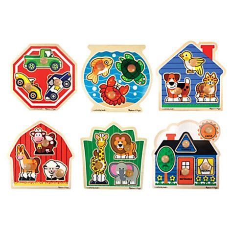 And Doug Knob Puzzles by Doug Jumbo Knob Puzzle Set By Office Depot Officemax