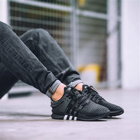 Sepatu Sneakers Adidas Equipment Support Adv Grey Black adidas eqt support adv 91 16 black grey fastsole co uk