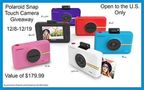 Camera Giveaway 2016 - polaroid snap touch camera giveaway how cool is this tom s take on things