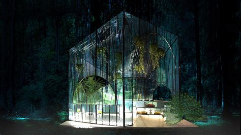 Pavillon Glas by Ethereal Glass Pavilion Redefines The Modern Greenhouse
