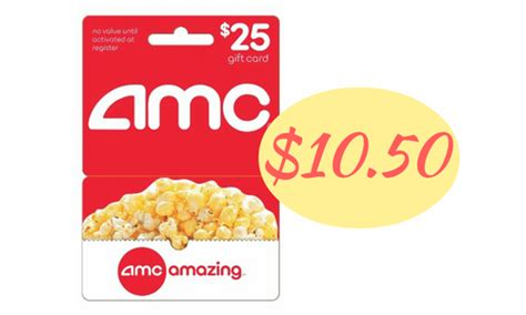 Amc Gift Card Promo Code - 25 amc gift card for 10 50 southern savers